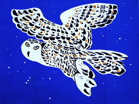 Owl In Blue Sky by Vadim Vaskovsky