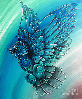 Owl by New Zealand Artist Reina Cottier by Reina Cottier