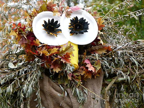 Christine Stack - Owl Scarecrow in a Field