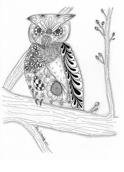 Owl Sittin Pretty by Paula Dickerhoff