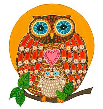 Owl with Baby by Barbara Esposito