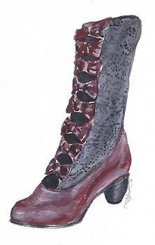 Oxblood Granny Boot by Sabina Mollot