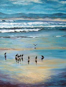 Oyster Catchers by Yvette Mey