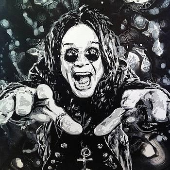 Ozzy Osbourne 36x48 Painting by Ocean Clark