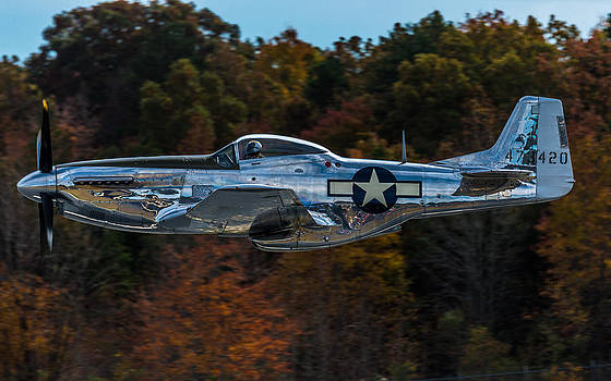 P-51 and Fall Colors by Mike Watts