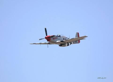 P-51 Mustang In  Flight by Susan Stevens Crosby