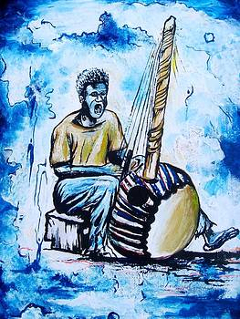 Pa Jacob and the kora guiter by Kchris Osuji