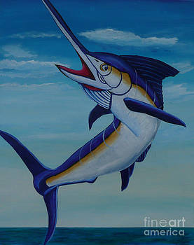 Pacific Blue Marlin by Anthony Dunphy