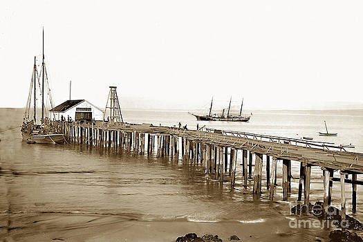 California Views Mr Pat Hathaway Archives - Pacific Coast Steamship Co. Wharf Monterey circa 1880
