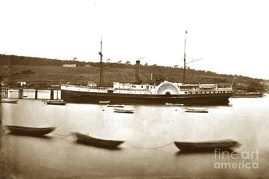 California Views Mr Pat Hathaway Archives - Side-wheel steamship Pacific Mail Steamships Senator at Monterey circa 1880