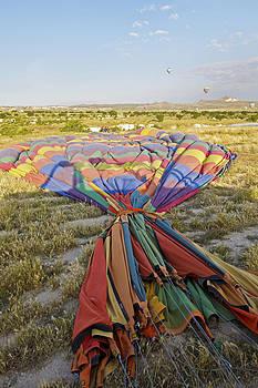 Kantilal Patel - packing away hot air balloon