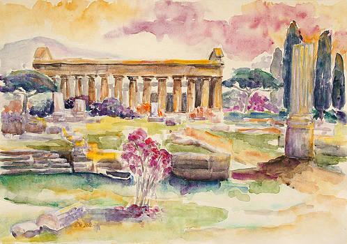 Paestum In Spring by Barbara Pommerenke