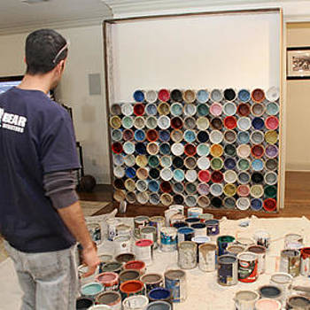 Benjamin Bullins - Paint Can Accent Wall