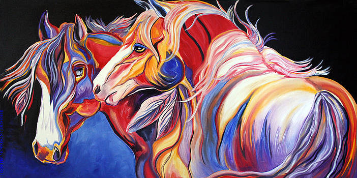 Paint Horse Colorful Spirits by Jennifer Morrison Godshalk