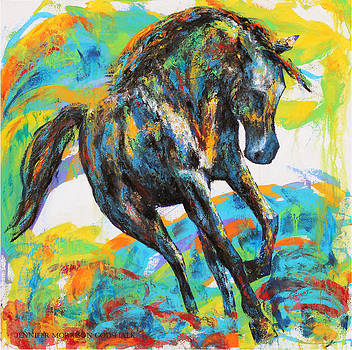 Paint Horse by Jennifer Morrison Godshalk