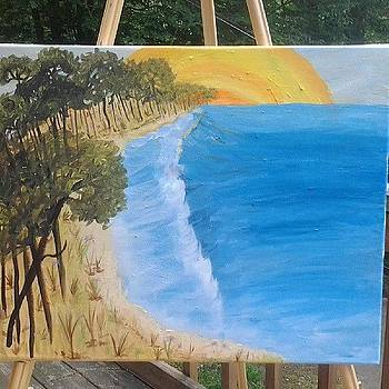 #paint #painting #relaxing #beach by Laura Vaillancourt