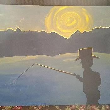 #paint #painting #relaxing #fishing by Laura Vaillancourt