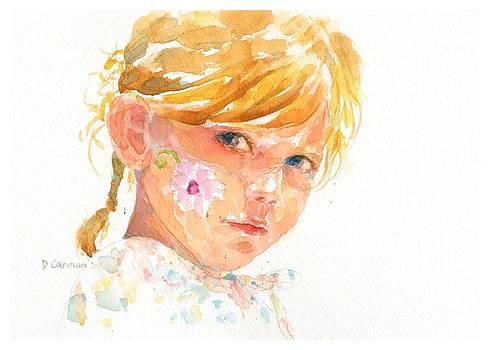 Painted  Cheek by Deborah Carman