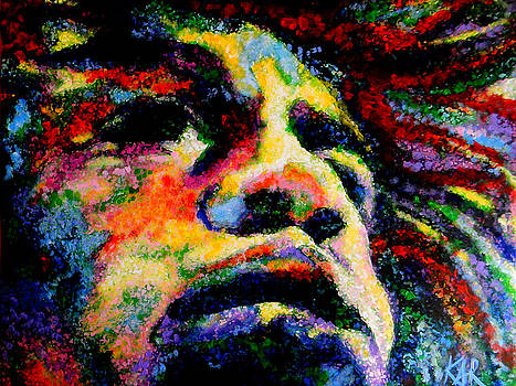 Painted Jimi by Art by Kar
