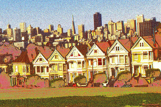 Art America Gallery Peter Potter - Painted Ladies San Francisco - Color Illustration