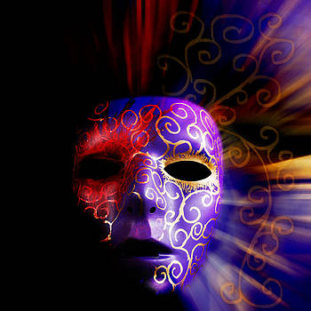 Jo Ann Snover - Painted mask background