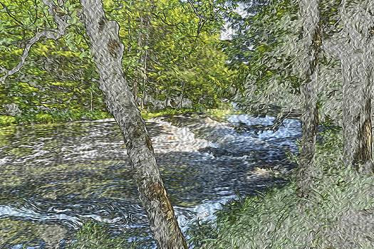 Painted Mountain Stream  by Will Burlingham