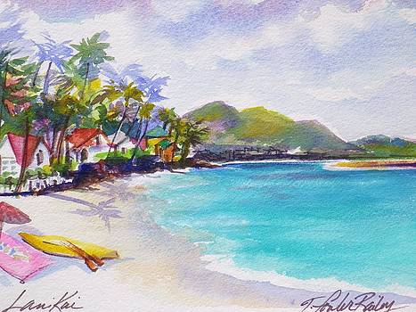 Painted on the Beach Lanikai SOLD  by Therese Fowler-Bailey