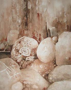 Painted Rocks ll by Marilyn  Clement