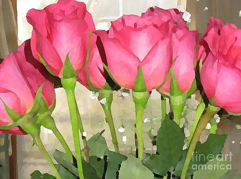 Painted Roses by Judy Palkimas