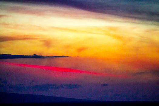 Maui Painted Sunset 2 by Jonica Hall