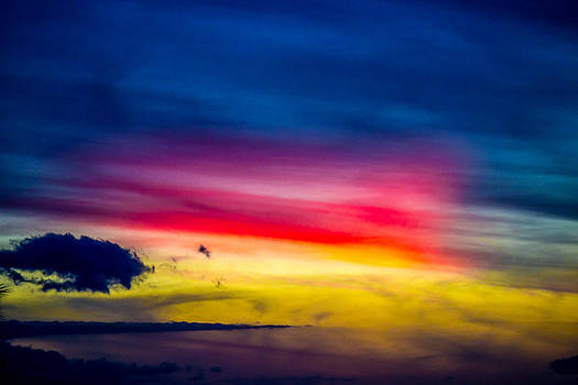 Maui Painted Sunset 3 by Jonica Hall
