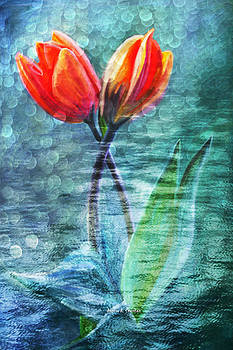 Angela A Stanton - Painted Tulips for Mother