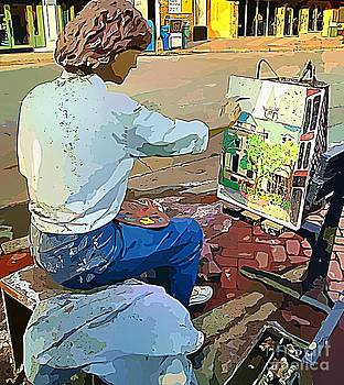 Painter Statue by Judy Palkimas