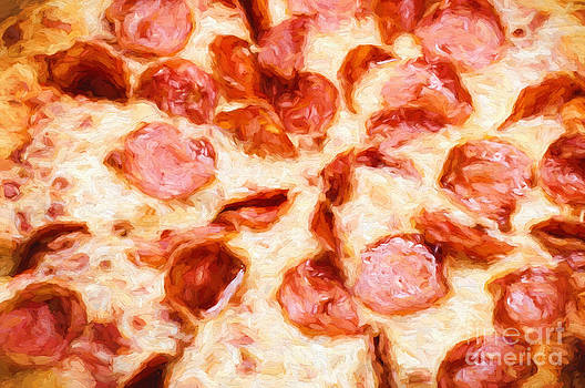 Andee Design - Painterly Pepperoni Pizza 1