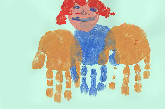 Fizzy Image - painting of a child with palms held out