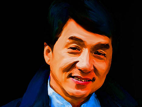 Painting of Jackie Chan by Parvez Sayed