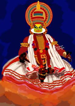 Painting of Kathakali Dancer by Debopriya Banerjee