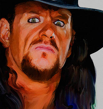 Painting of Undertaker by Parvez Sayed