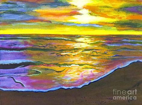 Painting Sanibel Island Beach by Judy Via-Wolff