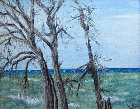 Judy Via-Wolff - Painting - Waiting for Spring - Lake Ontario