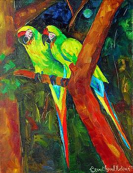 Paired Parrots by Brandi  Hickman