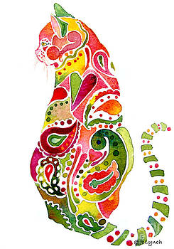 Paisley Cat 2 by Jo Lynch