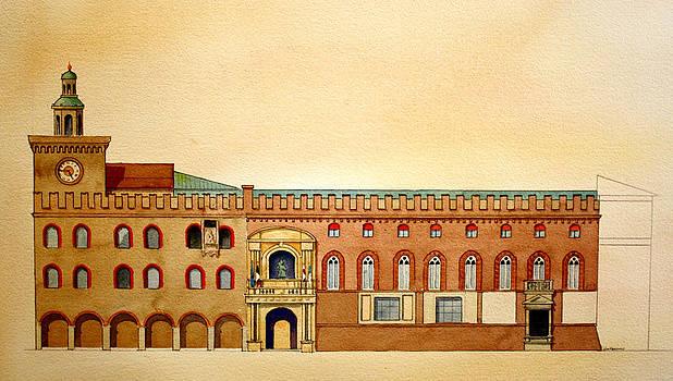 Palazzo d'Accursio Bologna Italy by William Renzulli