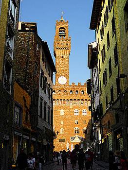 Palazzo Vecchio in Florence Italy by Irina Sztukowski