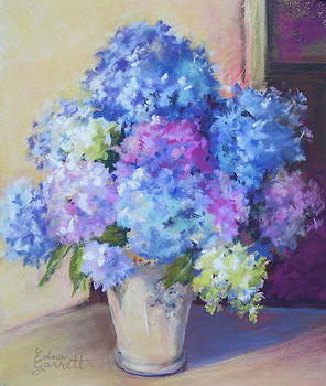 Pale Blue Hydrangeas  by Edna Garrett
