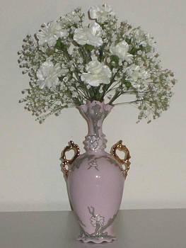 Pale Vase White Flowers by Good Taste Art