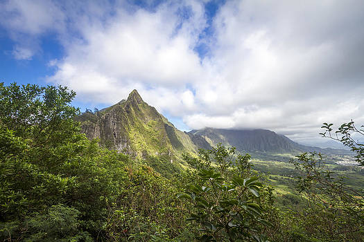 Pali lookout Oahu Hawaii by Jianghui Zhang