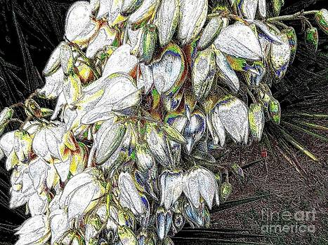 Palm Flower Abstract by Annette Allman