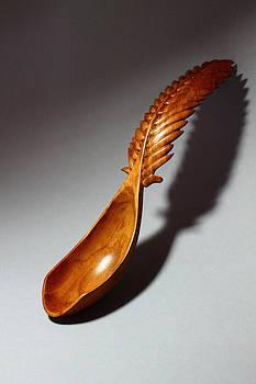 Palm Frond Spoon 1 by Abram Barrett
