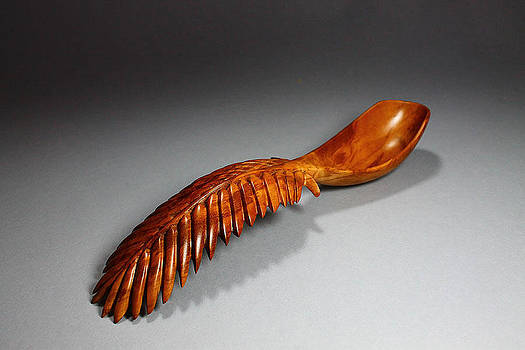 Palm Frond Spoon 3 by Abram Barrett